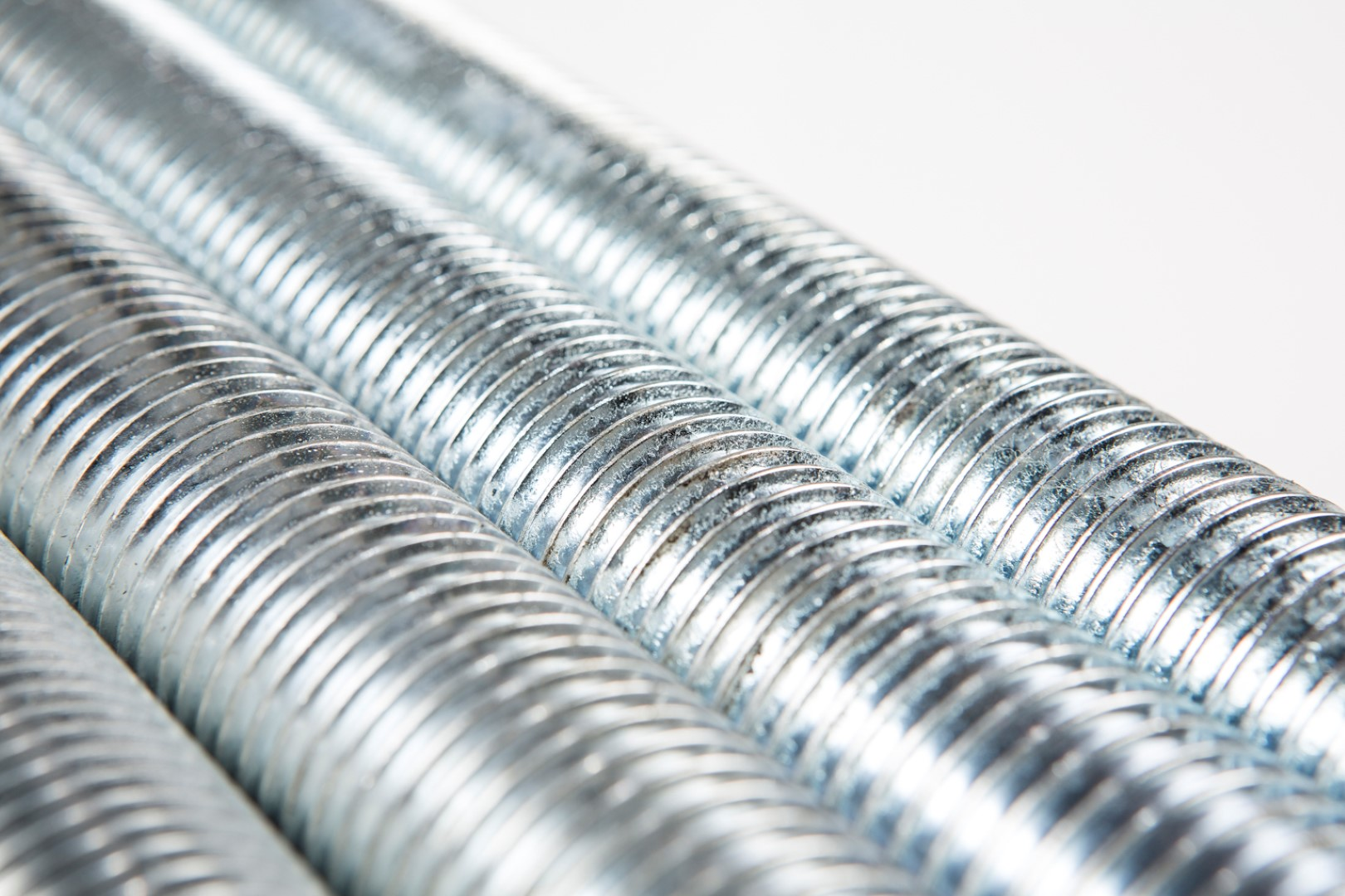 Steel threaded rod with blue-zinc electro plating, also known as fully-threaded bar or threaded stud